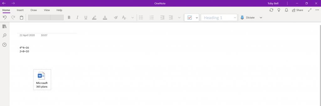 onenote insert file