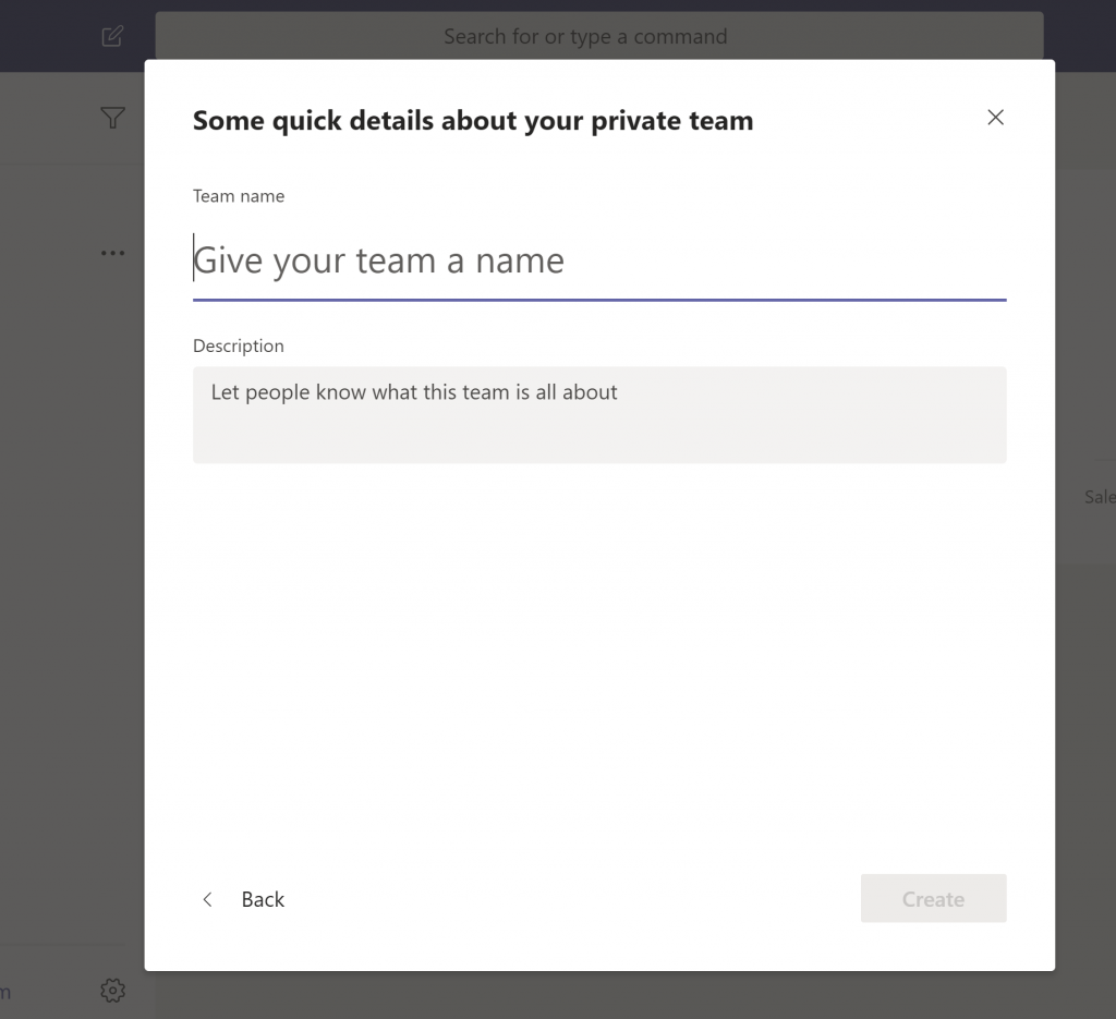 microsoft teams team name