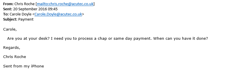 example of phishing email