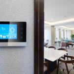 smart screen in modern office