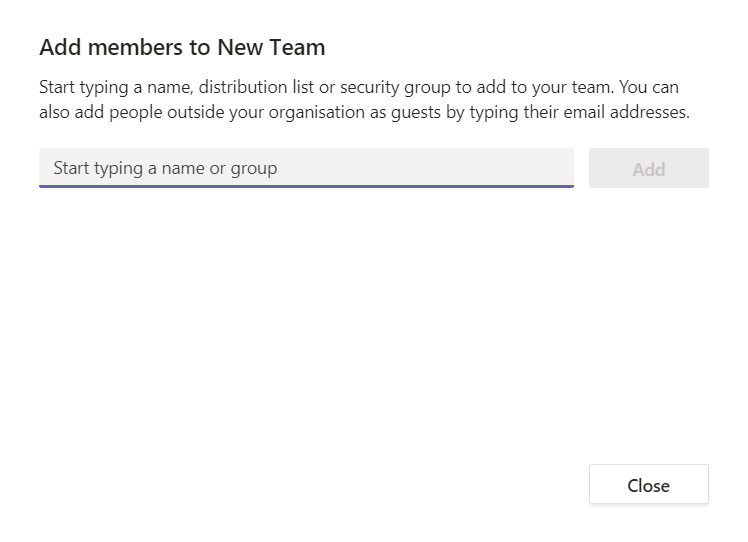 add someone to teams